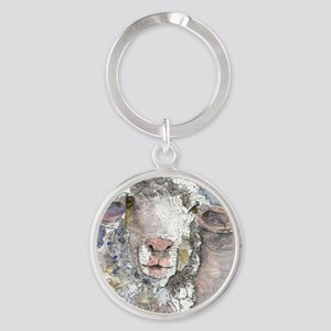 Shorn This Way, Sheep Round Keychain