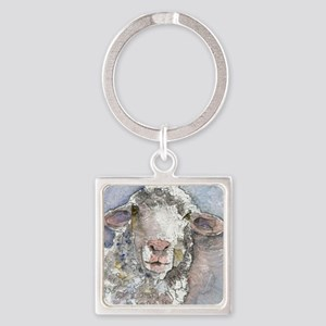 Shorn This Way, Sheep Square Keychain
