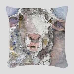 Shorn This Way, Sheep Woven Throw Pillow