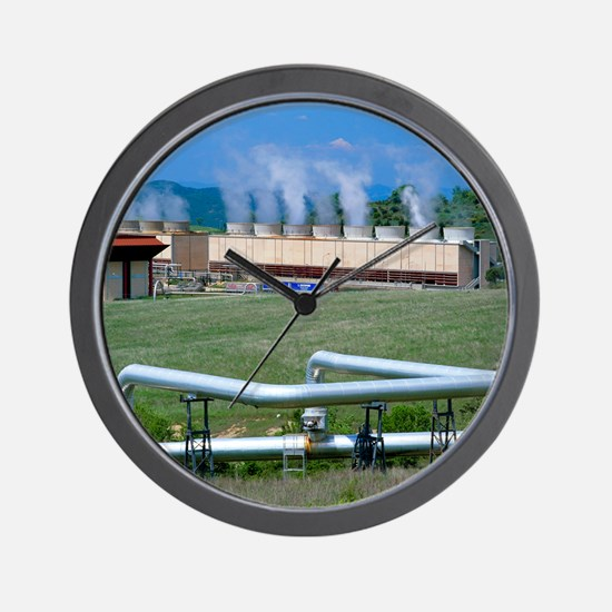 Geothermal power station, Italy Wall Clock
