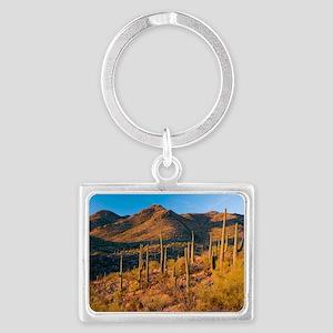 Giant Cactus (Carnegiea gigante Landscape Keychain