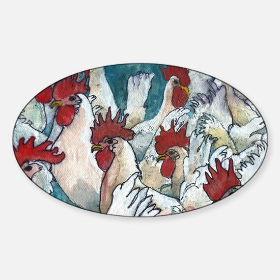 Chicken Hearted Sticker (Oval)