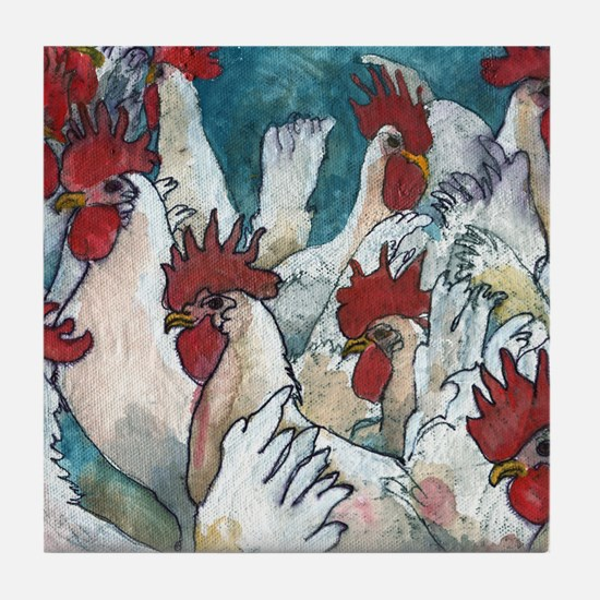 Chicken Hearted Tile Coaster