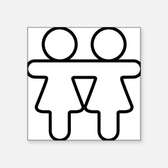 "Lesbian Gay Pride Love Square Sticker 3"" x 3"""