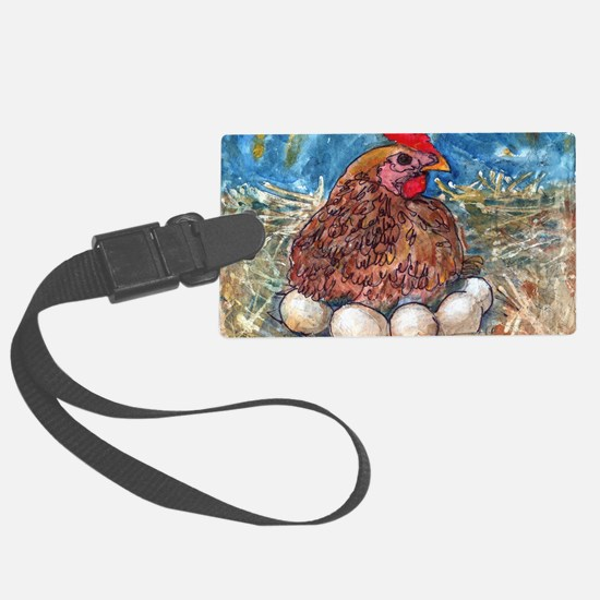 Family Nest, Chicken with eggs Luggage Tag