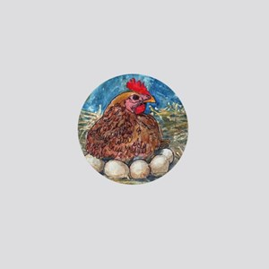 Family Nest, Chicken with eggs Mini Button