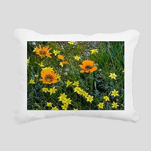 Gazania leiopoda Rectangular Canvas Pillow