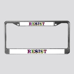 Resist License Plate Frame