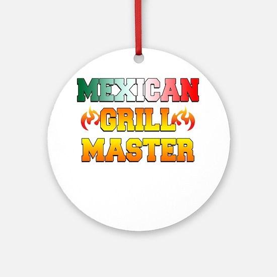 Mexican Grill Master Apron Round Ornament