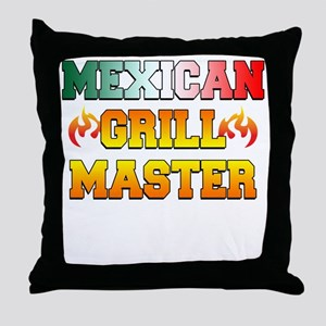 Mexican Grill Master Apron Throw Pillow
