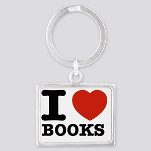I love books Landscape Keychain
