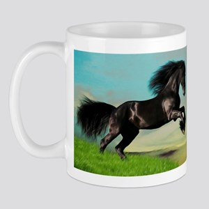 Black Horse Rearing Mug