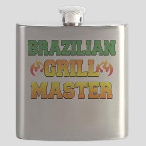 Brazilian Grill Master Dark Apron Flask