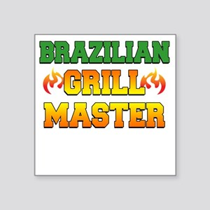 "Brazilian Grill Master Dark Square Sticker 3"" x 3"""
