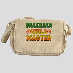 Brazilian Grill Master Dark Apron Messenger Bag