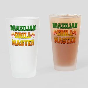Brazilian Grill Master Dark Apron Drinking Glass