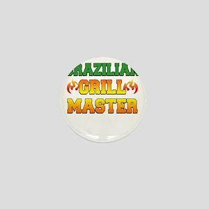 Brazilian Grill Master Dark Apron Mini Button