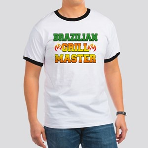 Brazilian Grill Master Dark Apron Ringer T