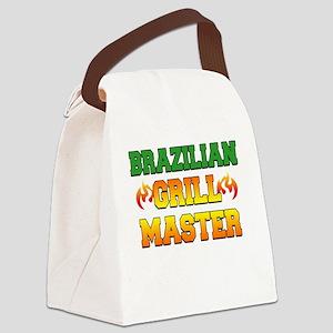 Brazilian Grill Master Dark Apron Canvas Lunch Bag