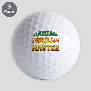 Brazilian Grill Master Dark Apron Golf Balls