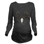 Mule deer skull mnt. Long Sleeve Maternity T-Shirt
