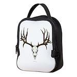 Mule deer skull mnt. Neoprene Lunch Bag