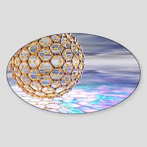 Fullerene molecule Sticker (Oval)