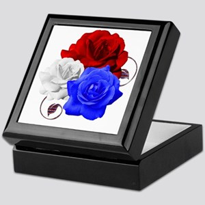 Patriotic Flowers Keepsake Box