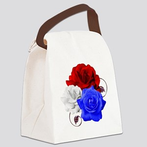 Patriotic Flowers Canvas Lunch Bag