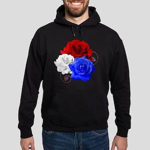Patriotic Flowers Hoodie (dark)