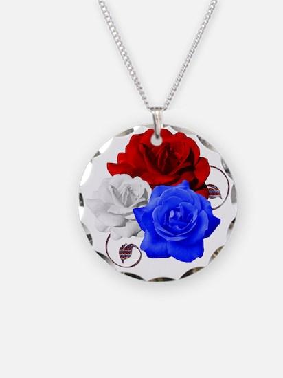 Patriotic Flowers Necklace