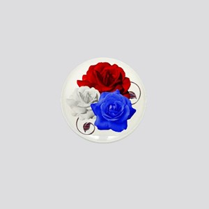 Patriotic Flowers Mini Button
