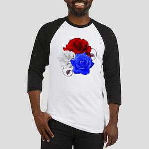 Patriotic Flowers Baseball Jersey