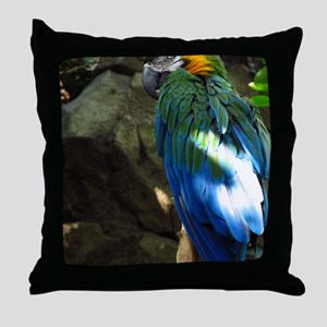 Epic Macaw Throw Pillow