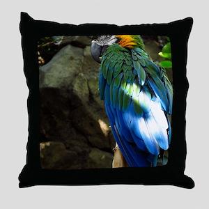 Epic Macaw Throw Pillow