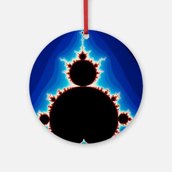 Fractal geometry showing Mandelbrot Round Ornament