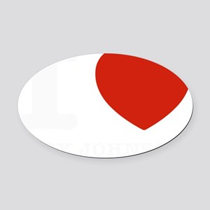 I love Gary Johnson Oval Car Magnet