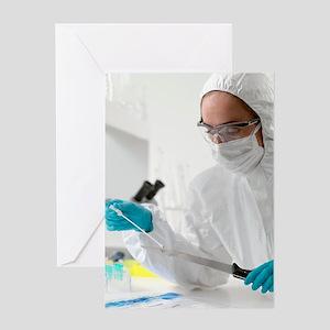 Forensic testing Greeting Card