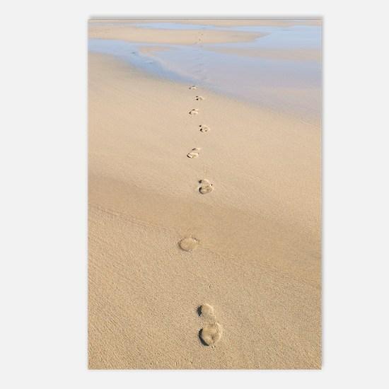 Footprints in sand Postcards (Package of 8)
