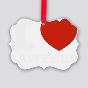 I love Lawyers Picture Ornament