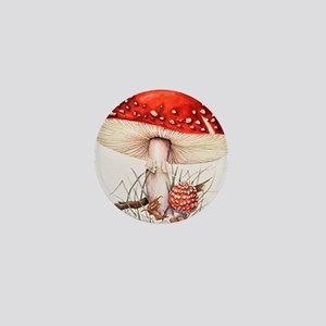 Fly agaric mushrooms Mini Button