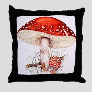 Fly agaric mushrooms Throw Pillow