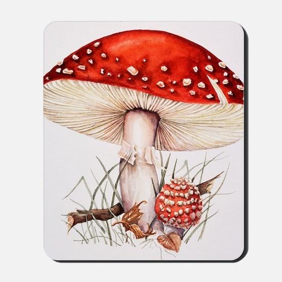 Fly agaric mushrooms Mousepad