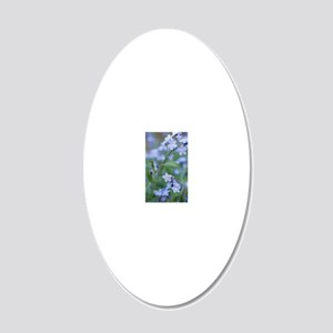 Forget-me-nots (Myosotis syl 20x12 Oval Wall Decal
