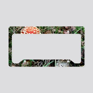 Fly agaric fungi License Plate Holder