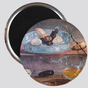 Food and glass dishes, Roman fresco Magnet