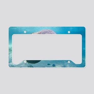Florida manatee swimming License Plate Holder