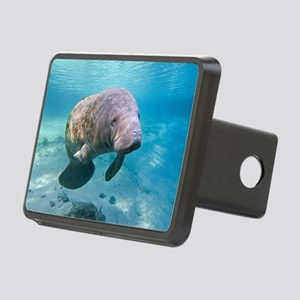 Florida manatee swimming Rectangular Hitch Cover
