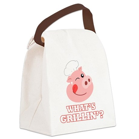 Whats Grillin? Canvas Lunch Bag