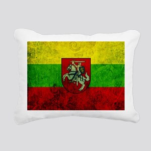 Lithuania Flag Rectangular Canvas Pillow